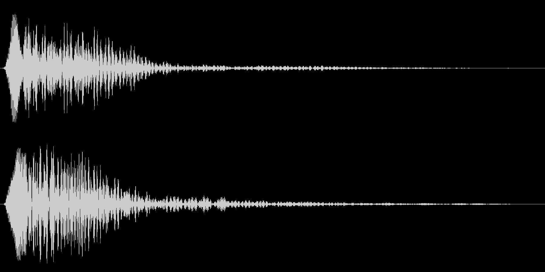 ブヮァーンというスペース音の未再生の波形
