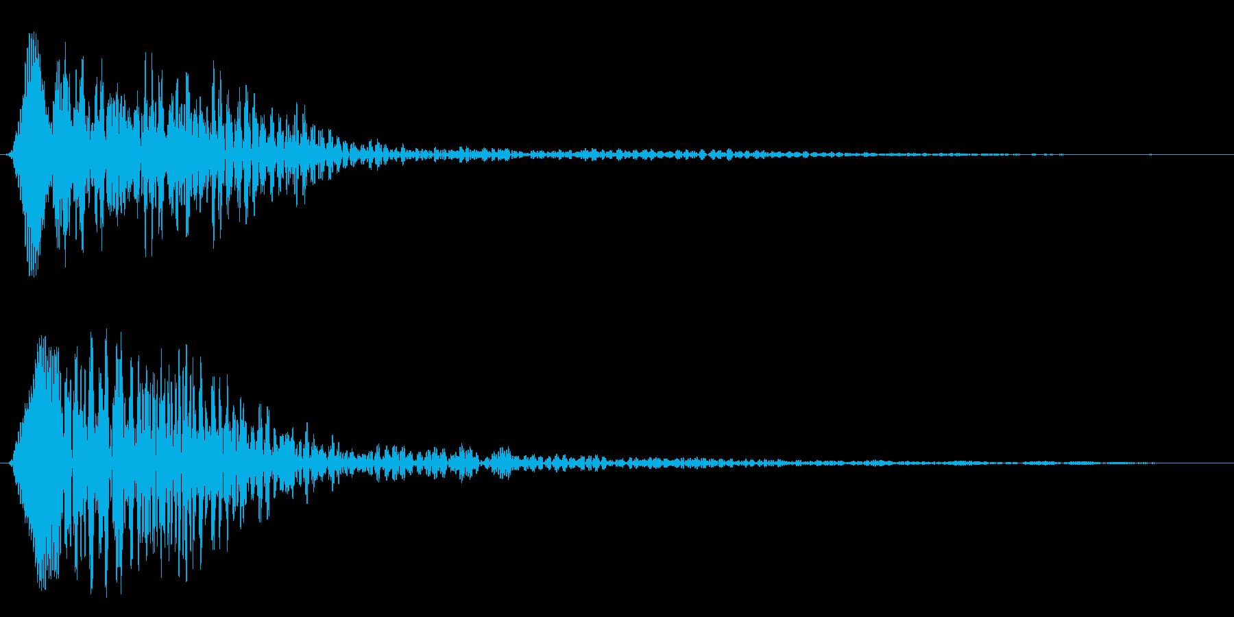 ブヮァーンというスペース音の再生済みの波形