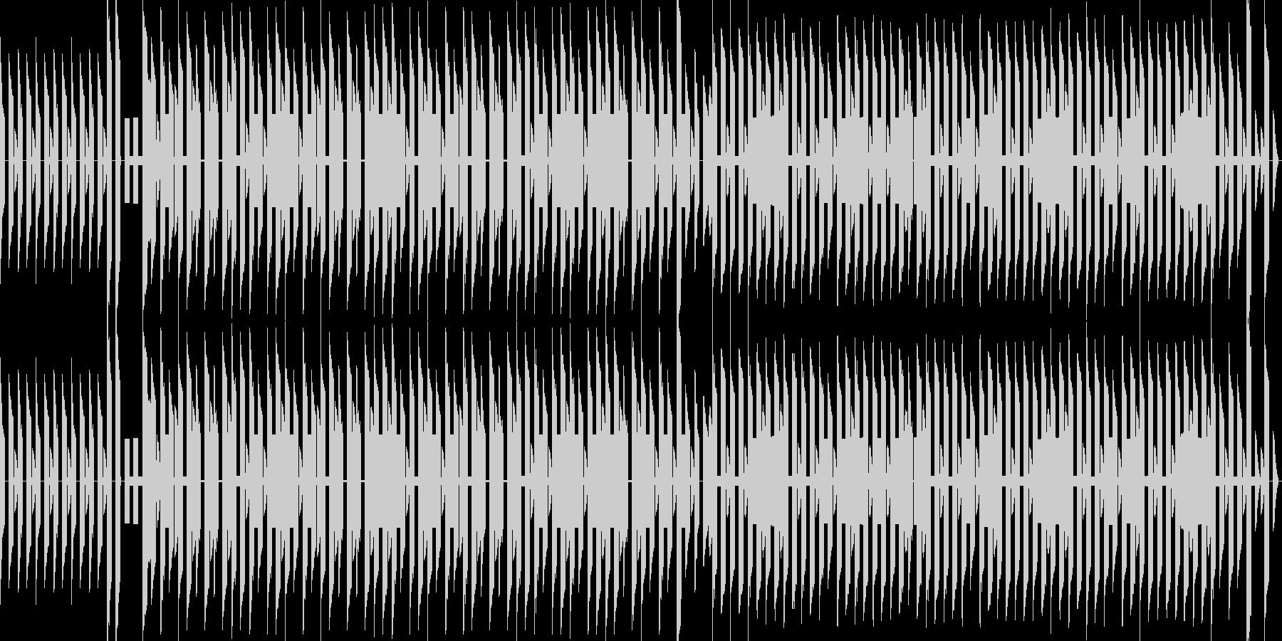 のどかな街のチップチューン風BGMの未再生の波形
