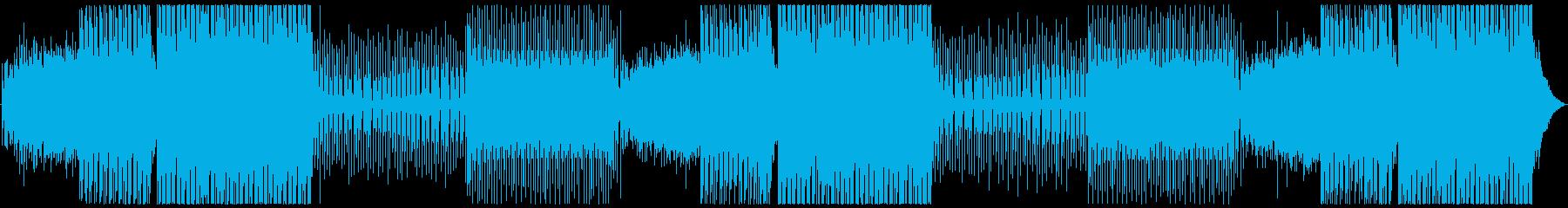 さわやか四つ打ちEDM系ダンスBGMの再生済みの波形