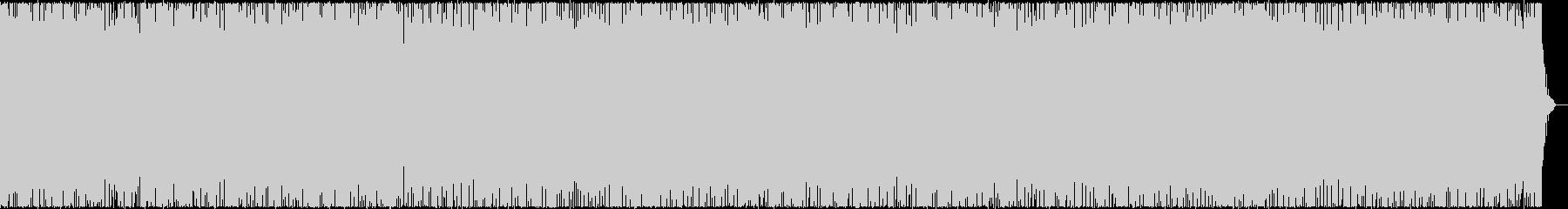 弾むような軽快なBGMの未再生の波形