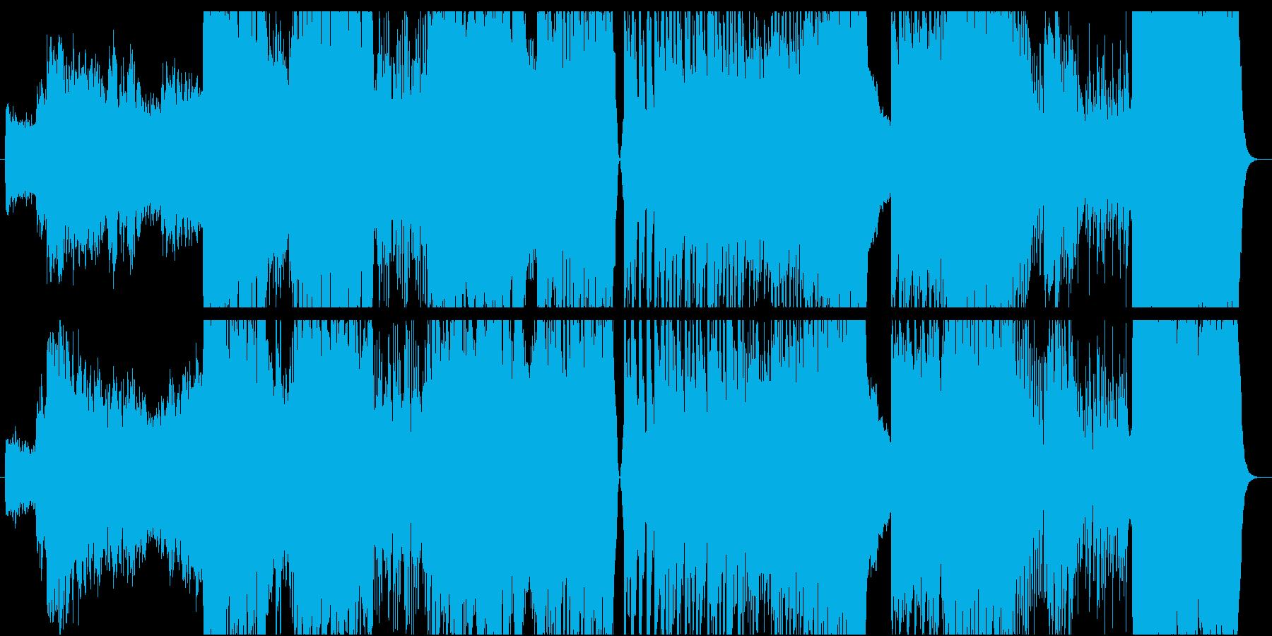 ラプソディーインブルーのEDMの再生済みの波形