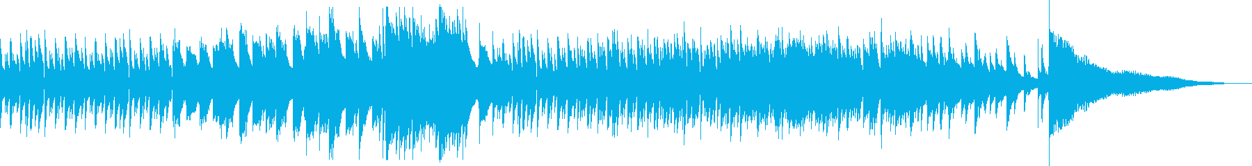 悲しい雰囲気のピアノ曲の再生済みの波形