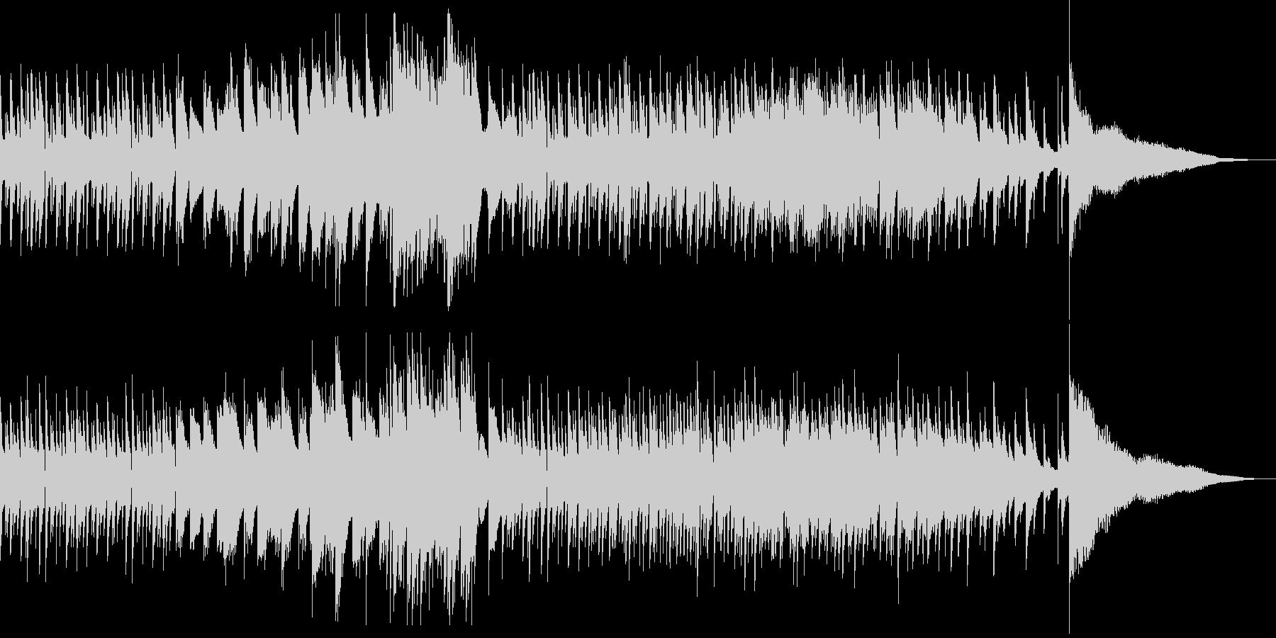 悲しい雰囲気のピアノ曲の未再生の波形