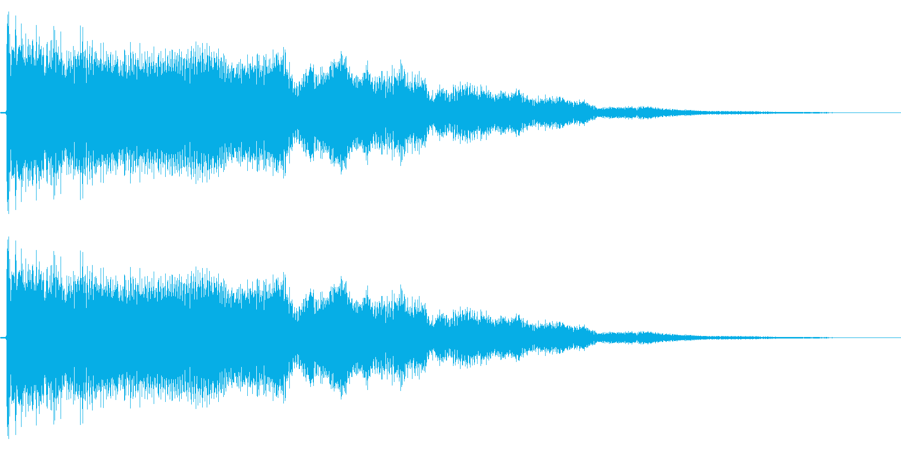 【エレキギター】クリスタル系な音の再生済みの波形