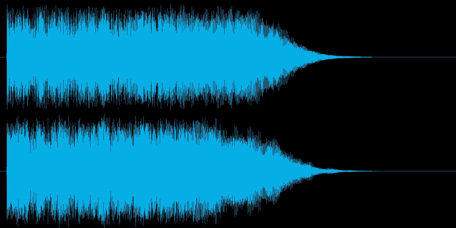 疾走感のあるシンセロックの再生済みの波形