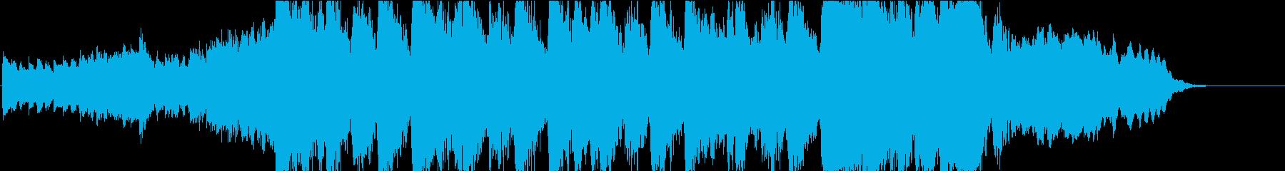 静かなピアノから壮大なオケ④30秒版の再生済みの波形