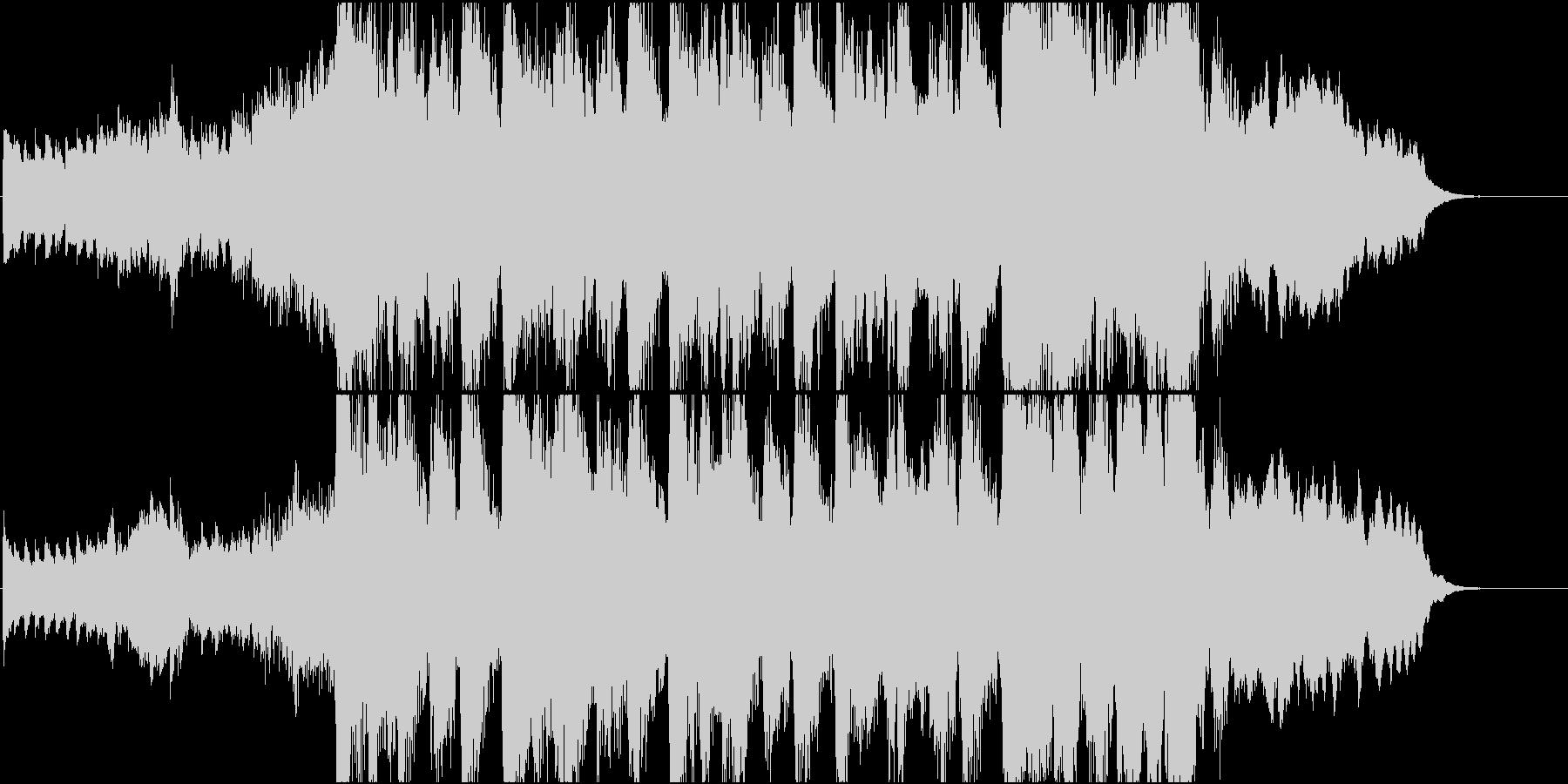 静かなピアノから壮大なオケ④30秒版の未再生の波形
