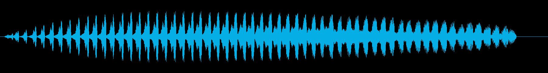 シャララ系ダウン(マリンバ)2の再生済みの波形