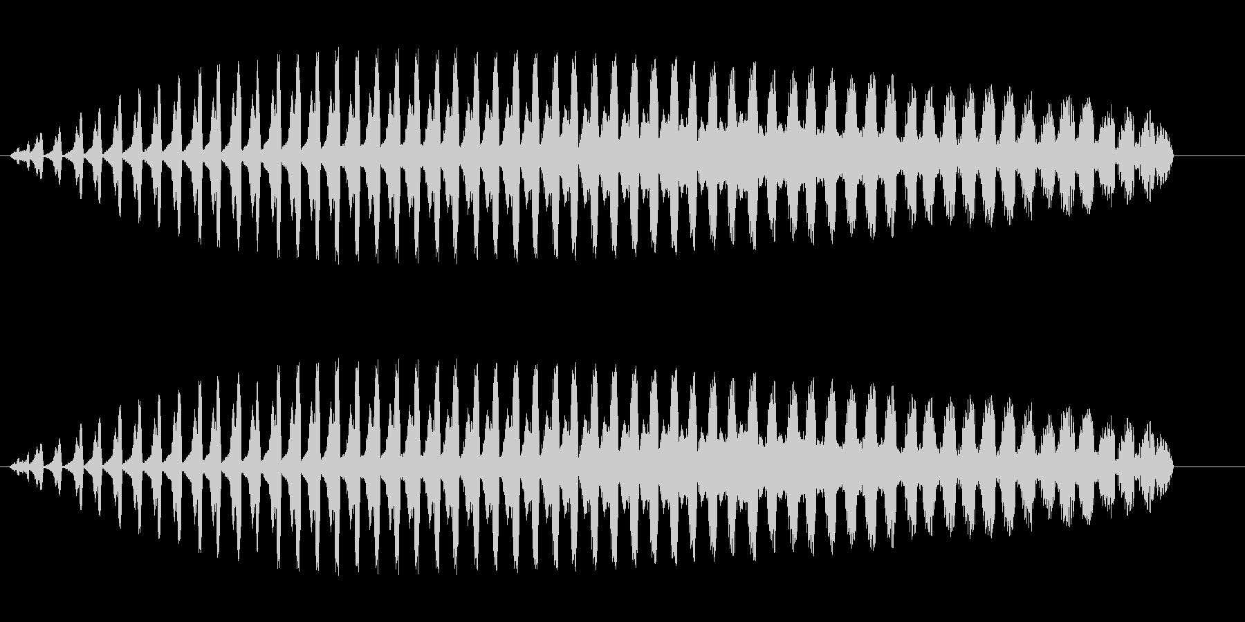 シャララ系ダウン(マリンバ)2の未再生の波形