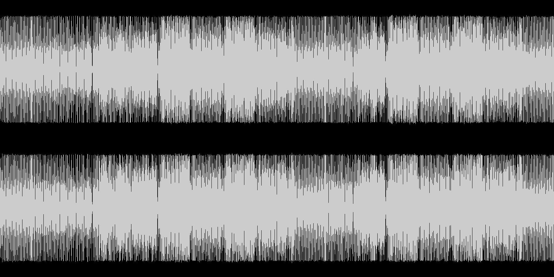 明るく軽快なチップチューンサウンドの未再生の波形