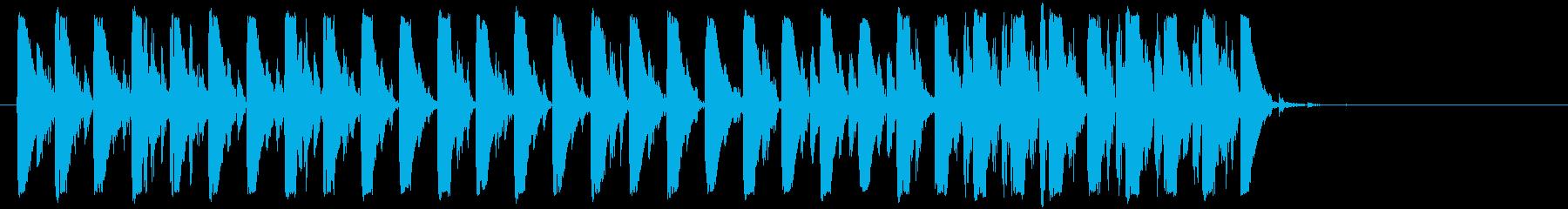 近未来風テクノビートポップジングルの再生済みの波形