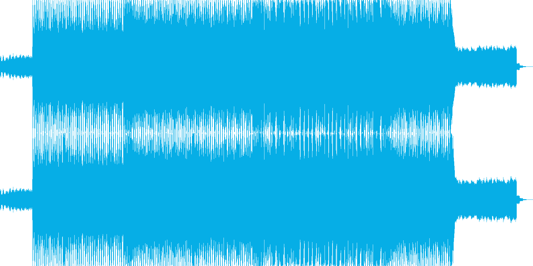 ハイテンポのノリノリの楽曲で、レトロな…の再生済みの波形