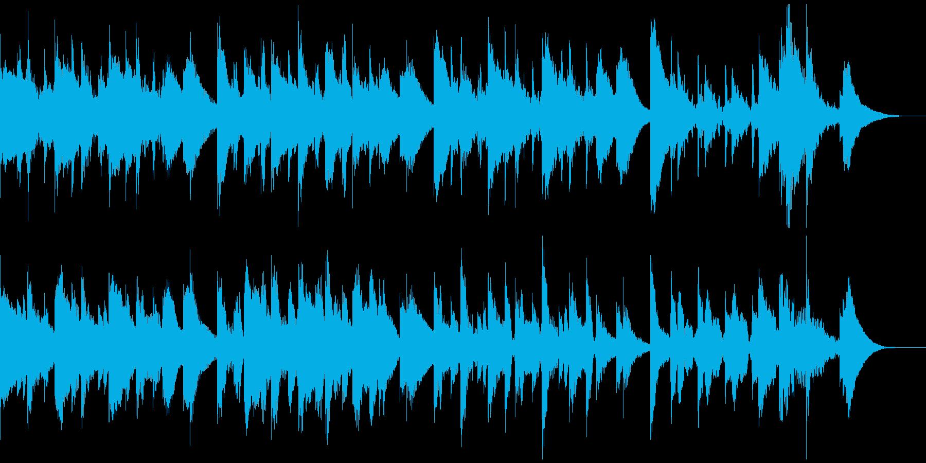 マリンバのほんわか15秒ジングル の再生済みの波形
