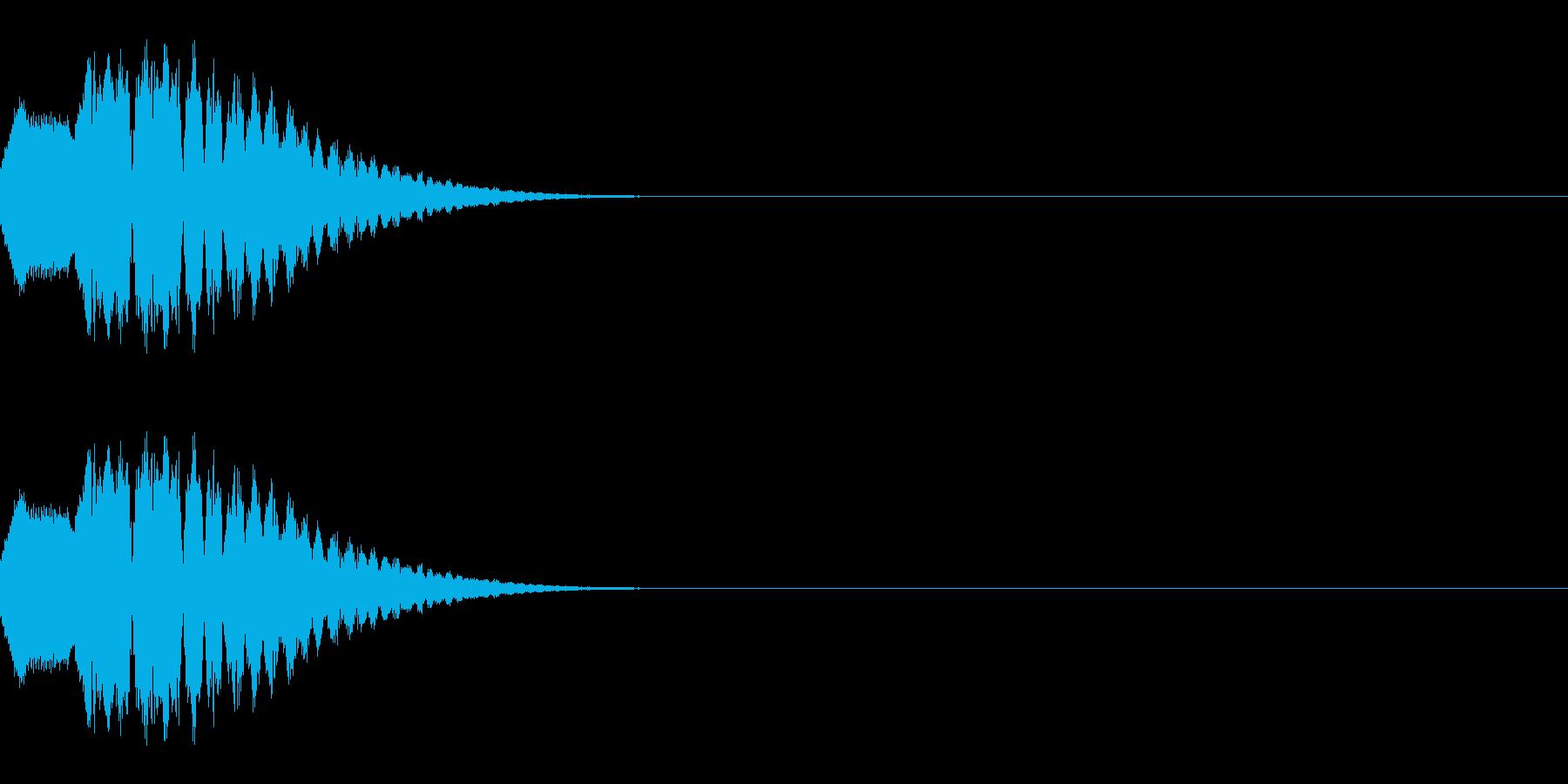 ポップな上昇系の効果音_その3の再生済みの波形