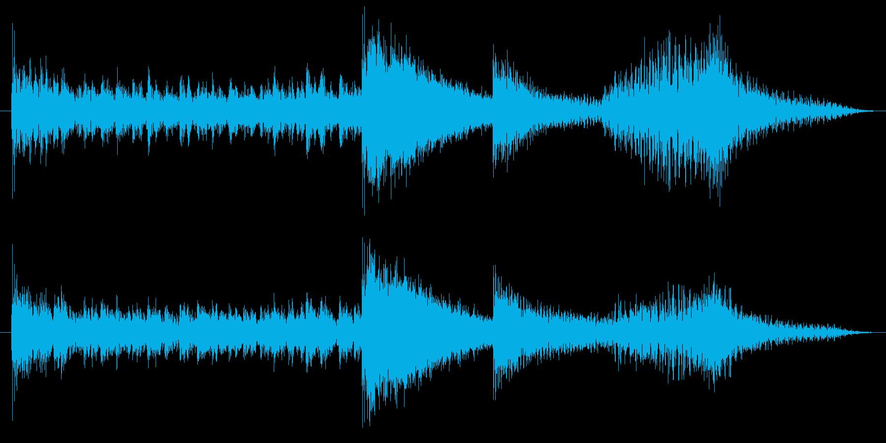 打楽器とハープのコミカルサウンドロゴの再生済みの波形