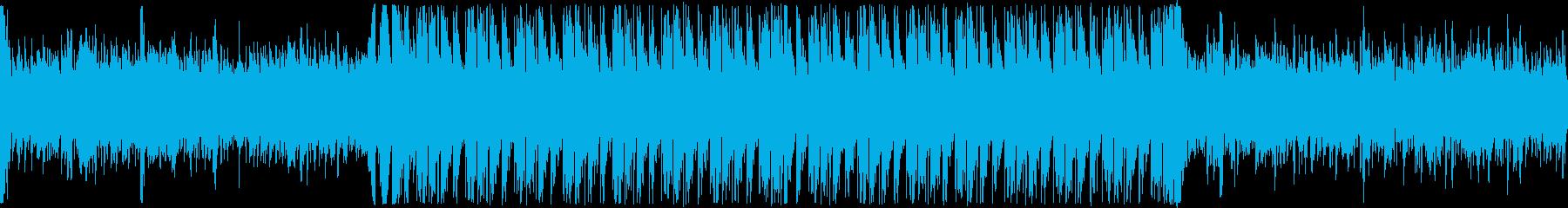 バッドエンドやホラー系のアンビエント曲の再生済みの波形