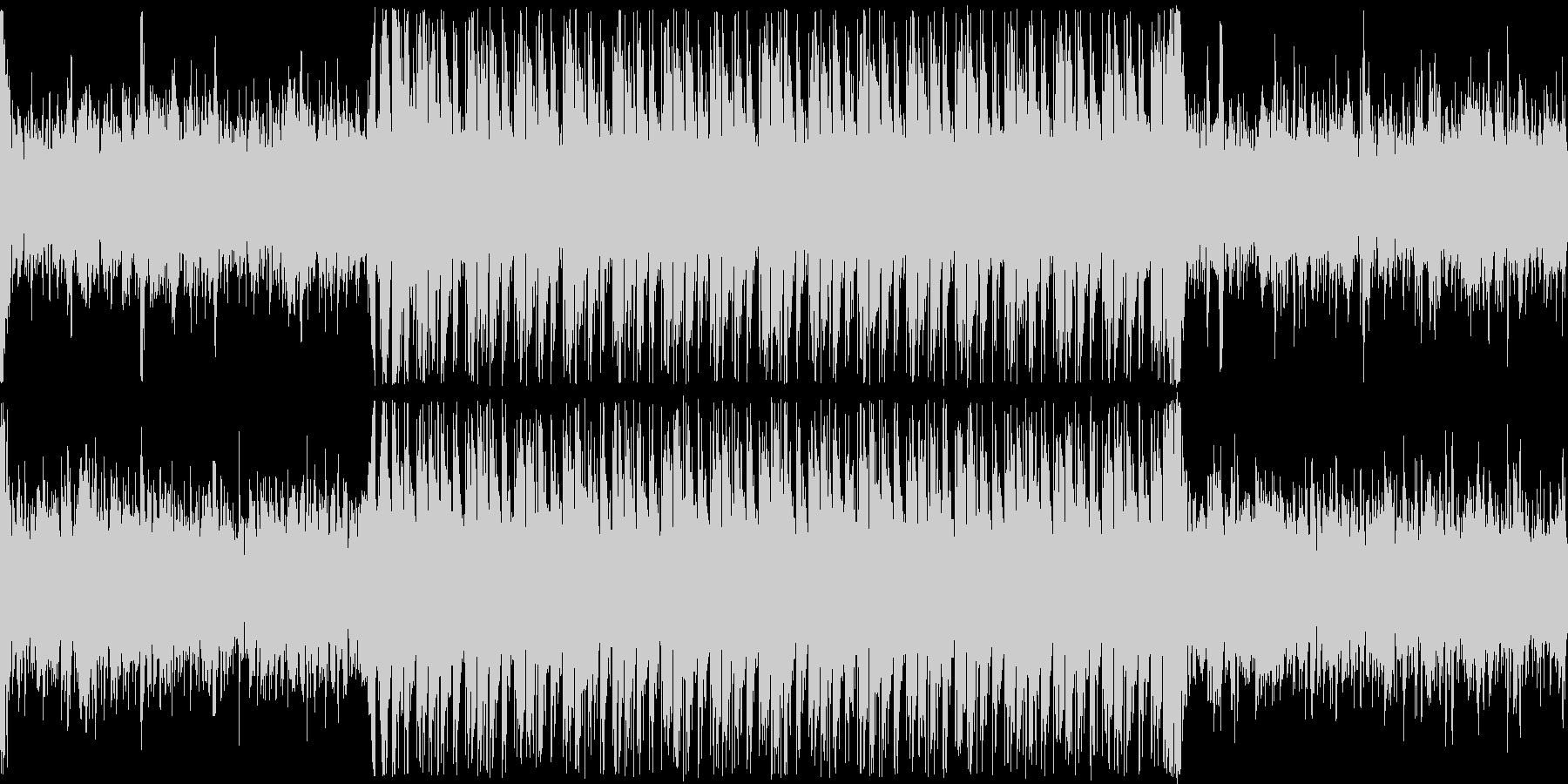 バッドエンドやホラー系のアンビエント曲の未再生の波形