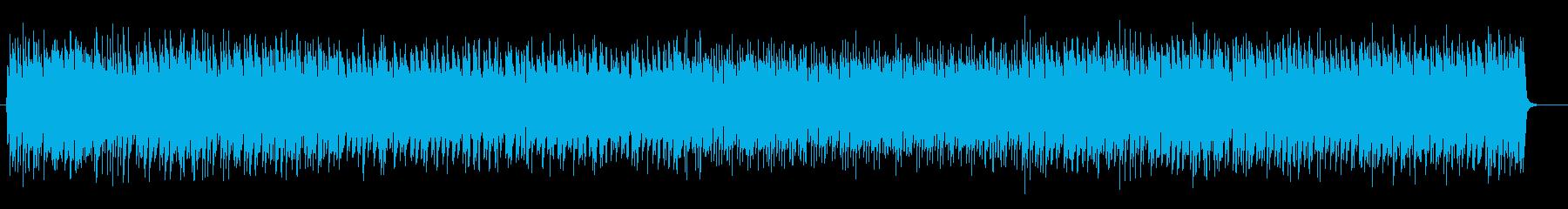 リズミカルでベースが印象的なテクノの再生済みの波形