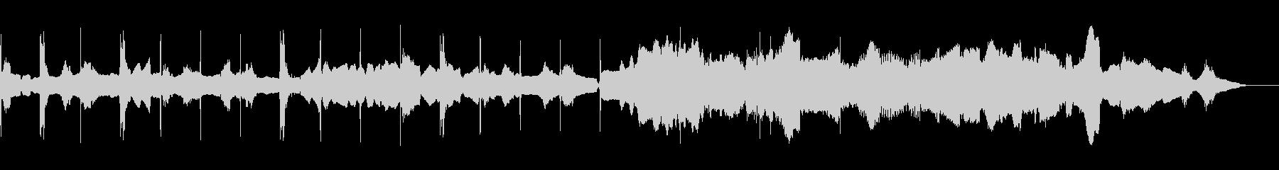オーボエによる民謡風のループの未再生の波形