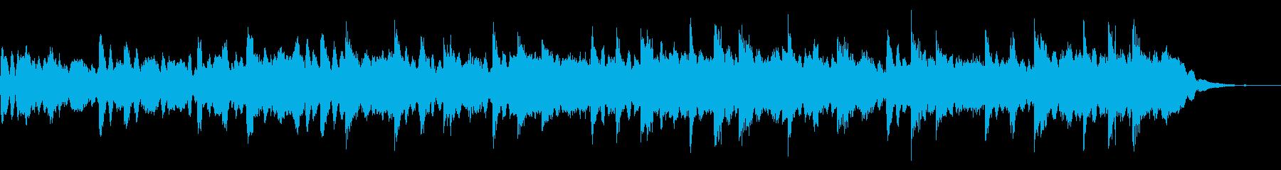 お化け屋敷に最適な恐怖なシンセサイザー曲の再生済みの波形