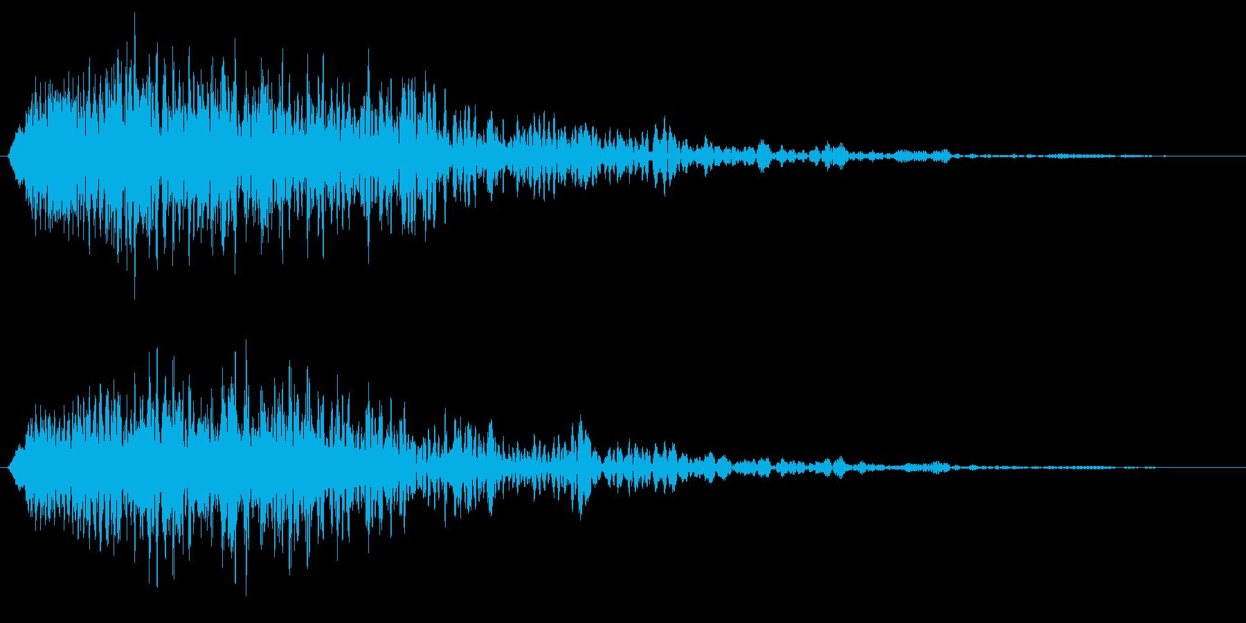 ヒューン(落下音・ステータス下降など)の再生済みの波形