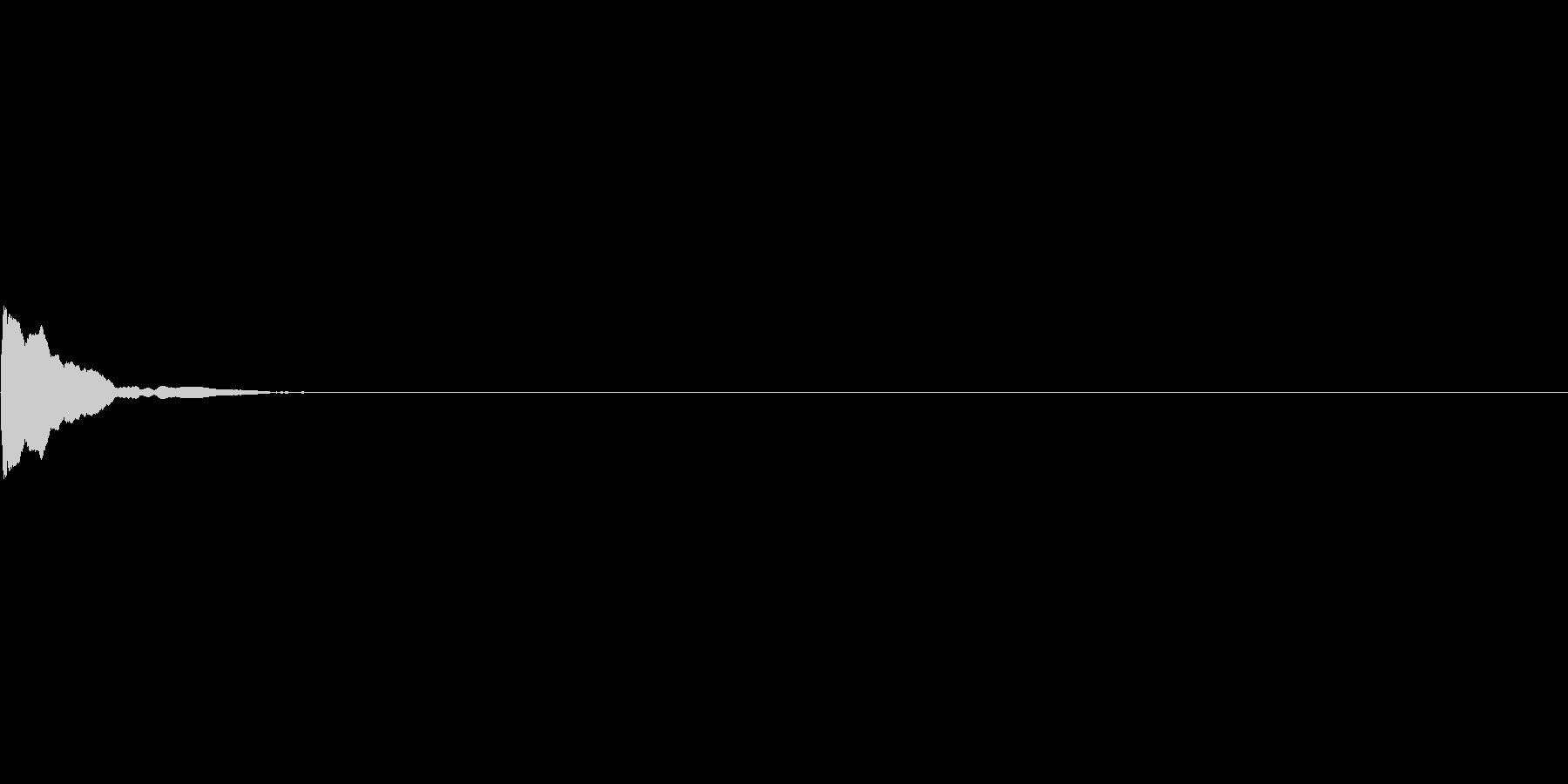 カーソル移動音(マリンバ)の未再生の波形