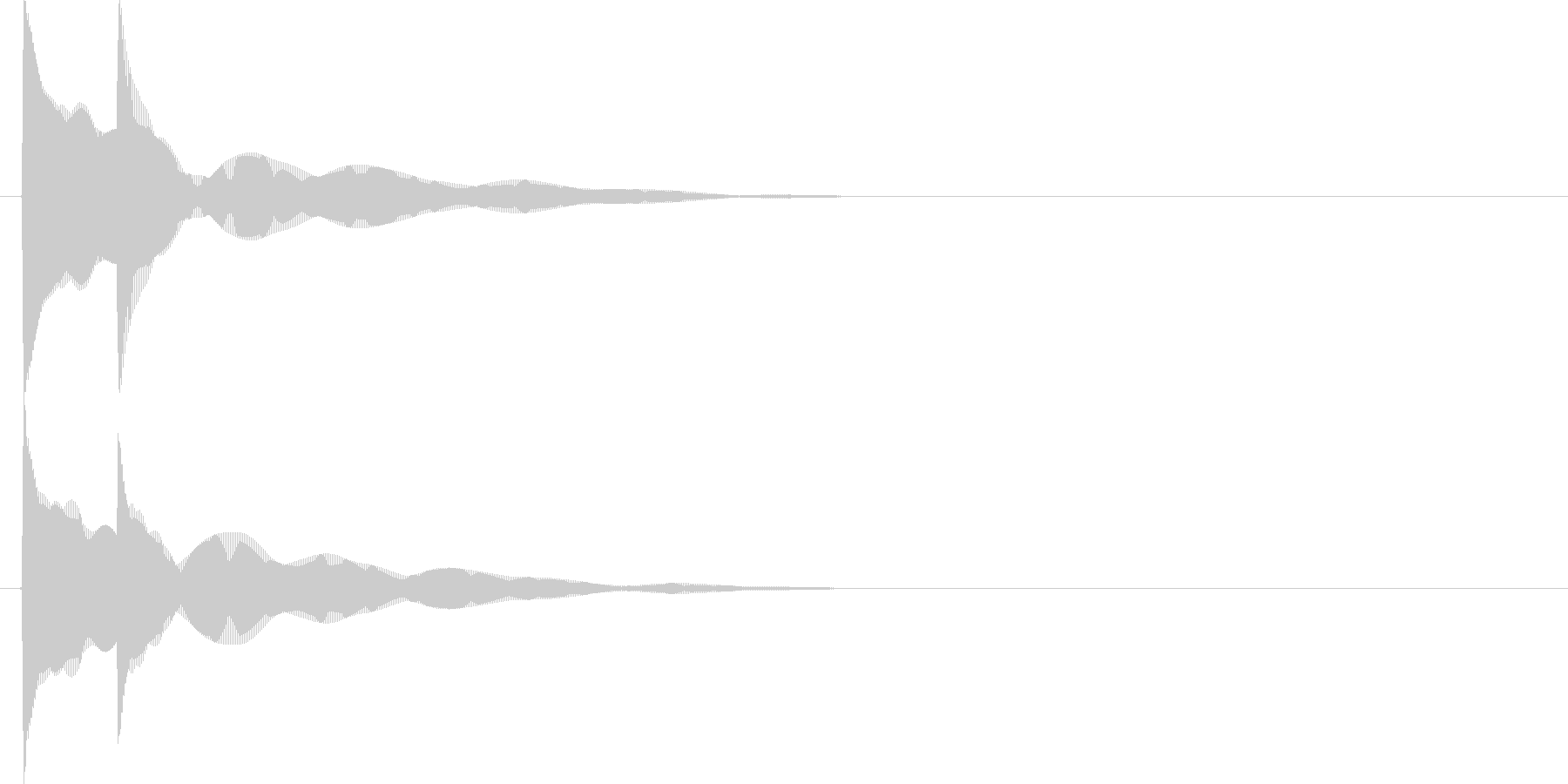 ピコン(決定時の音)の未再生の波形