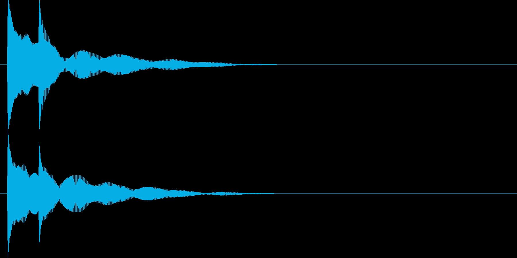 ピコン(決定時の音)の再生済みの波形