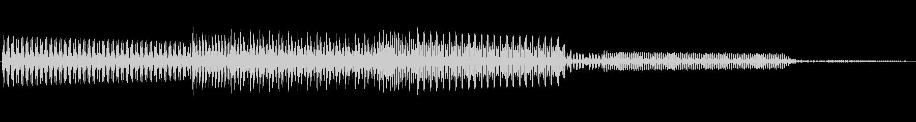 ボタン決定音システム選択タッチ登録B02の未再生の波形