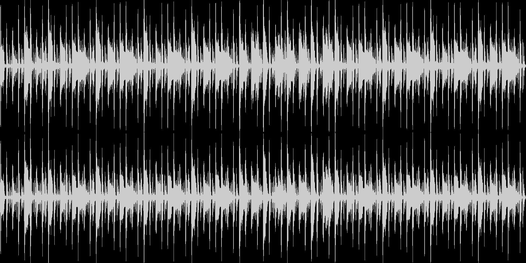 ふわふわした行進曲の未再生の波形