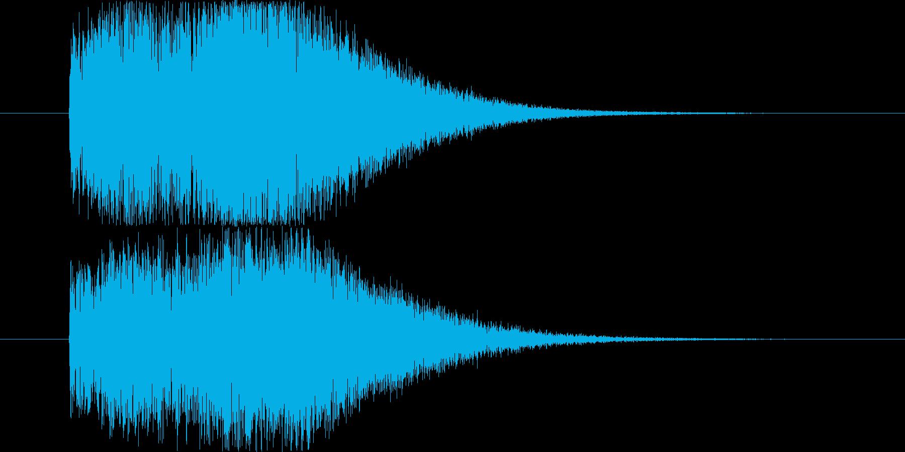 デフォルメされた風の音の再生済みの波形