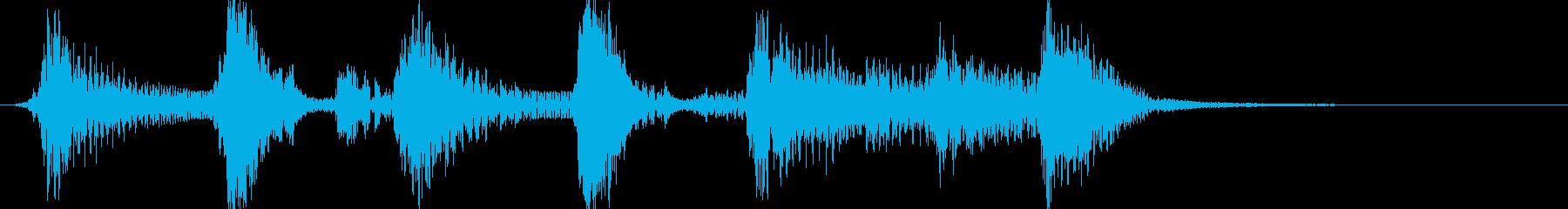 ピアノ、スキップの感じのんの再生済みの波形