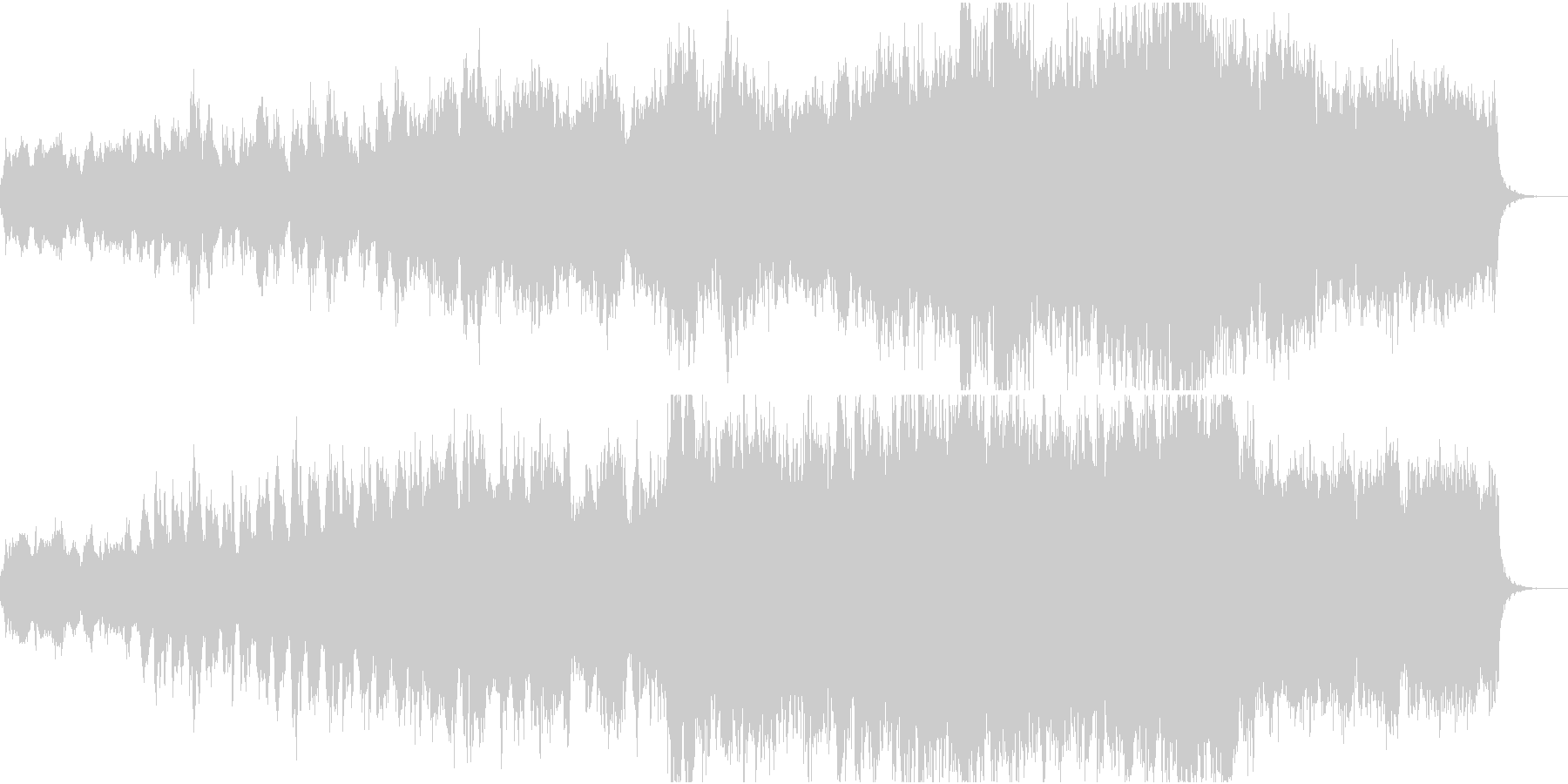 物語が始まるワクワクしたイメージのBGMの未再生の波形