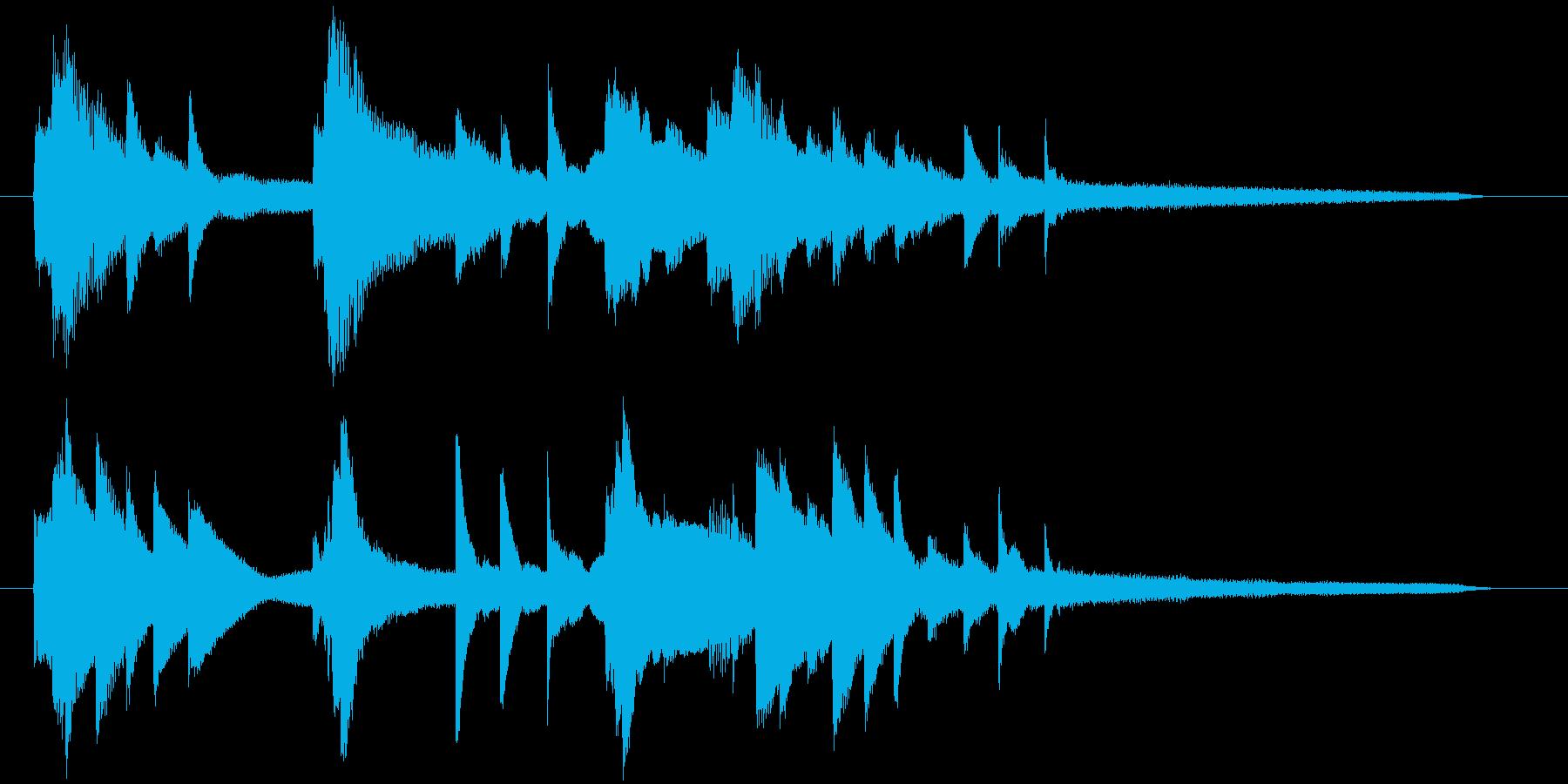 ゲームオーバージングル、ピアノ高音が特徴の再生済みの波形