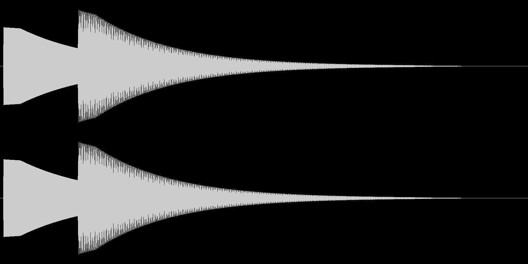 【効果音】ドアチャイム2の未再生の波形