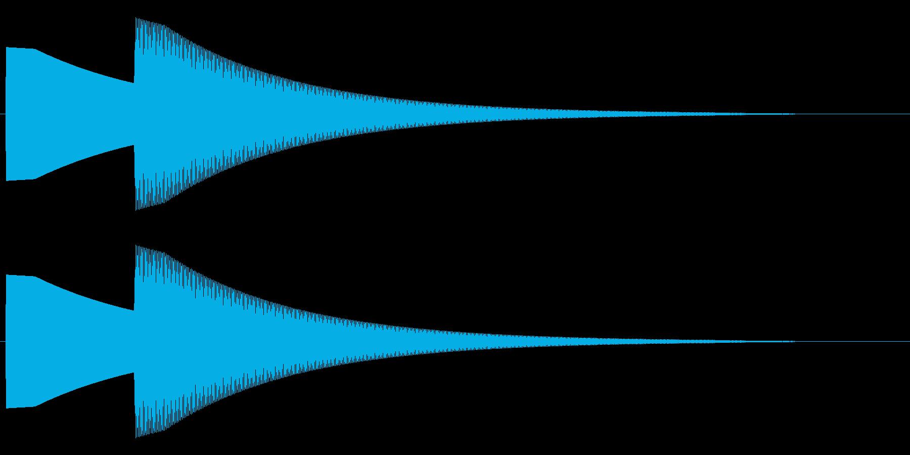 【効果音】ドアチャイム2の再生済みの波形
