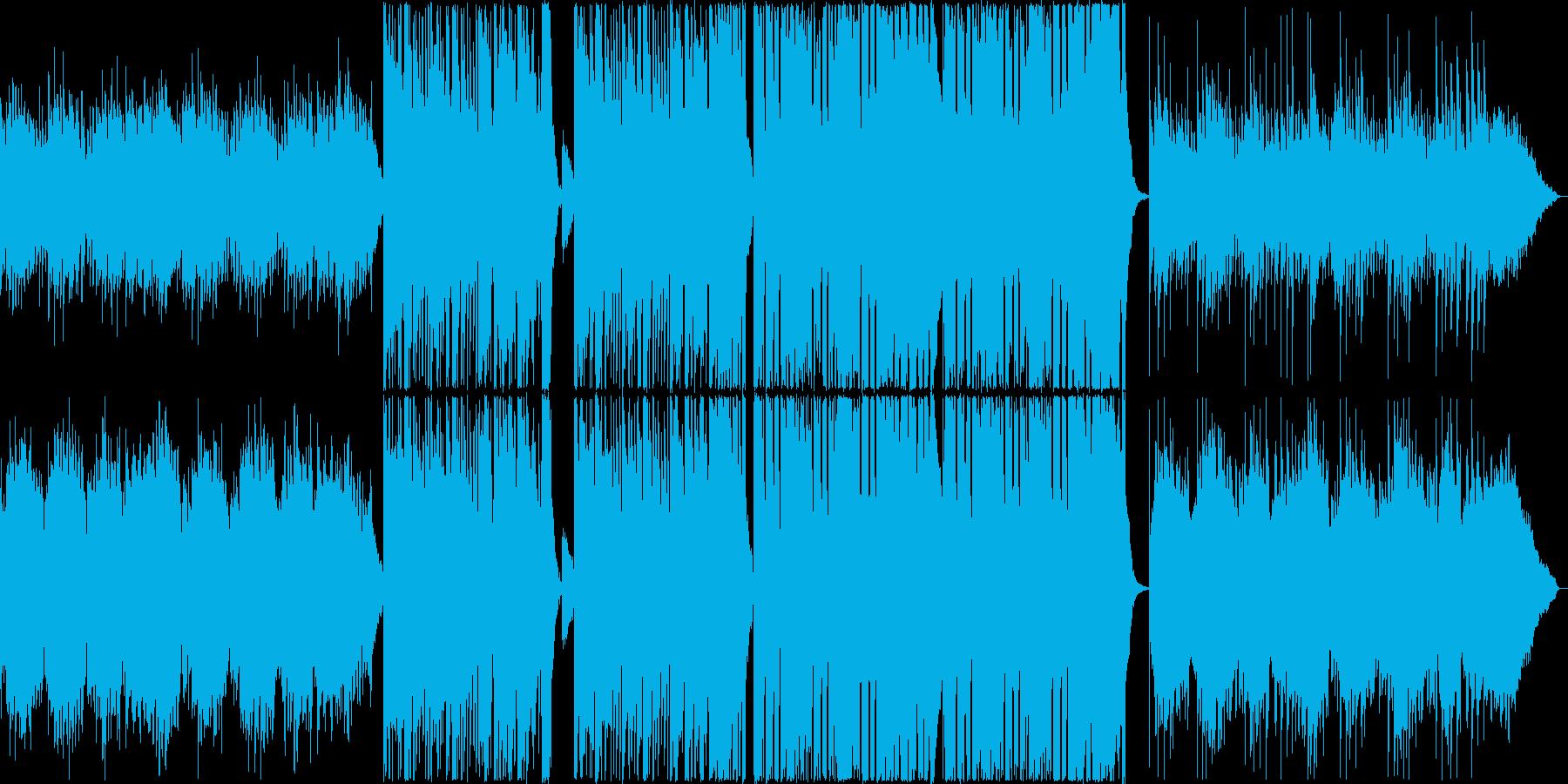 冬やクリスマスの雰囲気のベル音色バラードの再生済みの波形