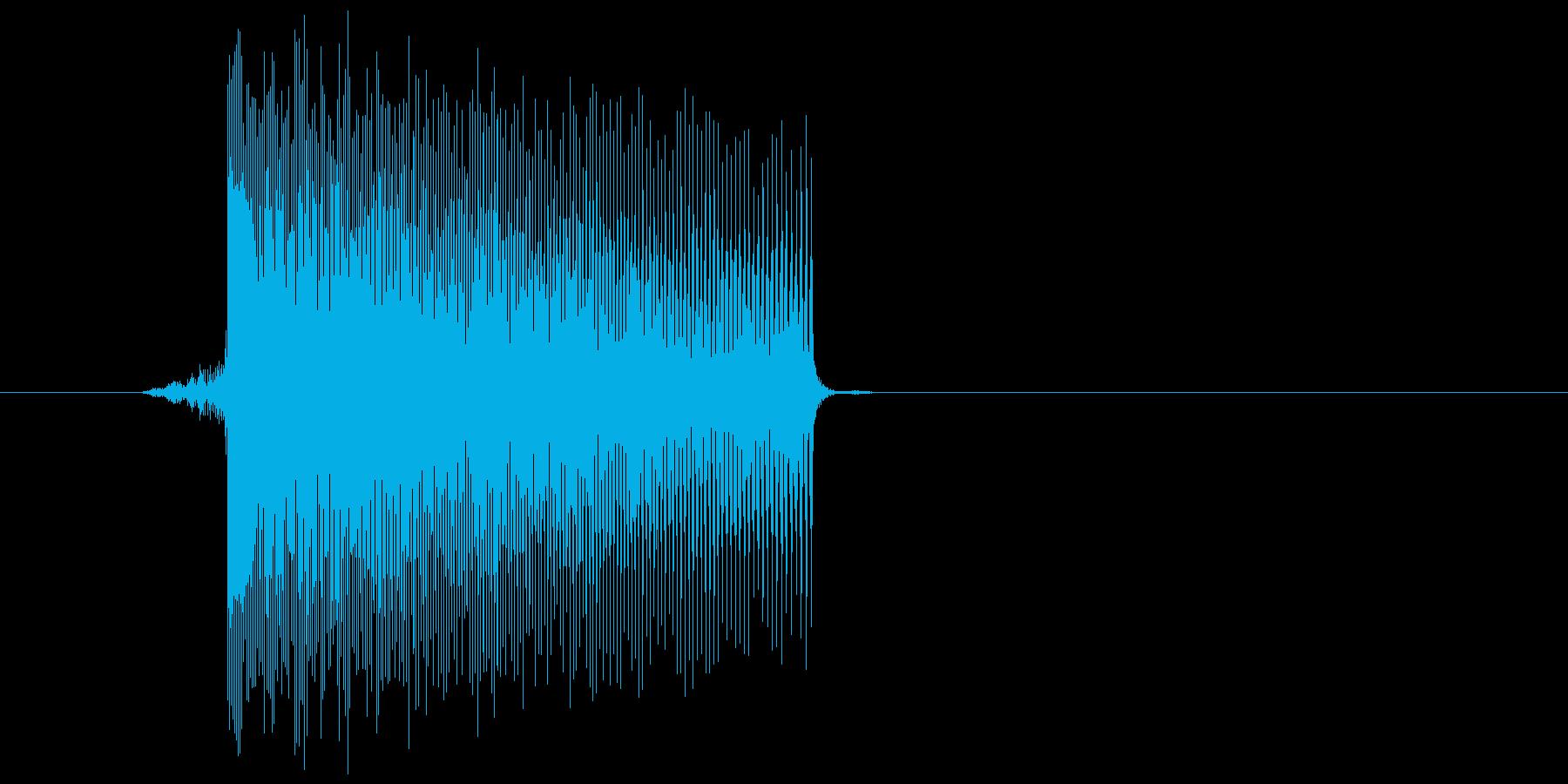 ゲーム(ファミコン風)レーザー音_026の再生済みの波形