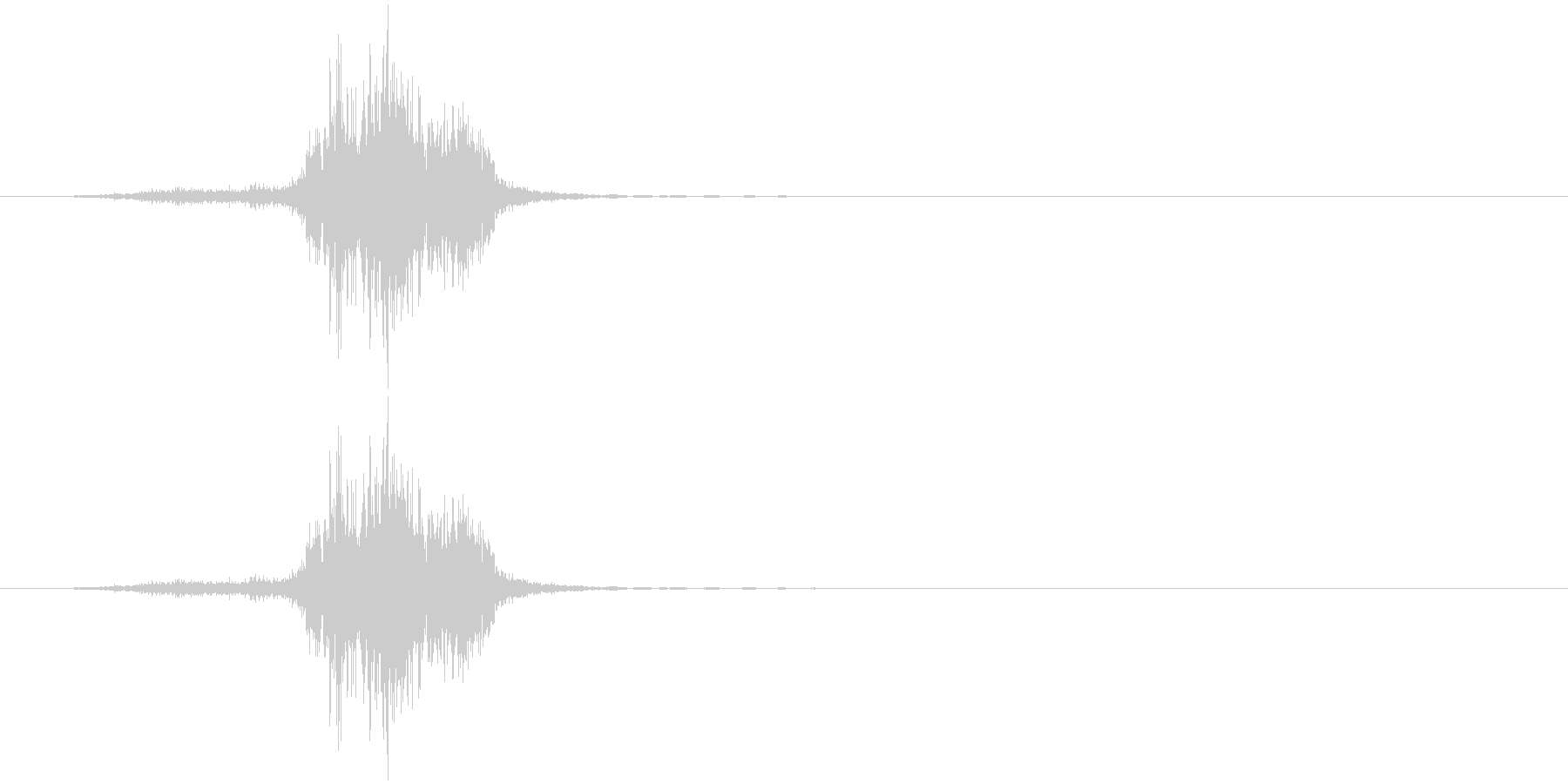 シュ(金属系)の未再生の波形