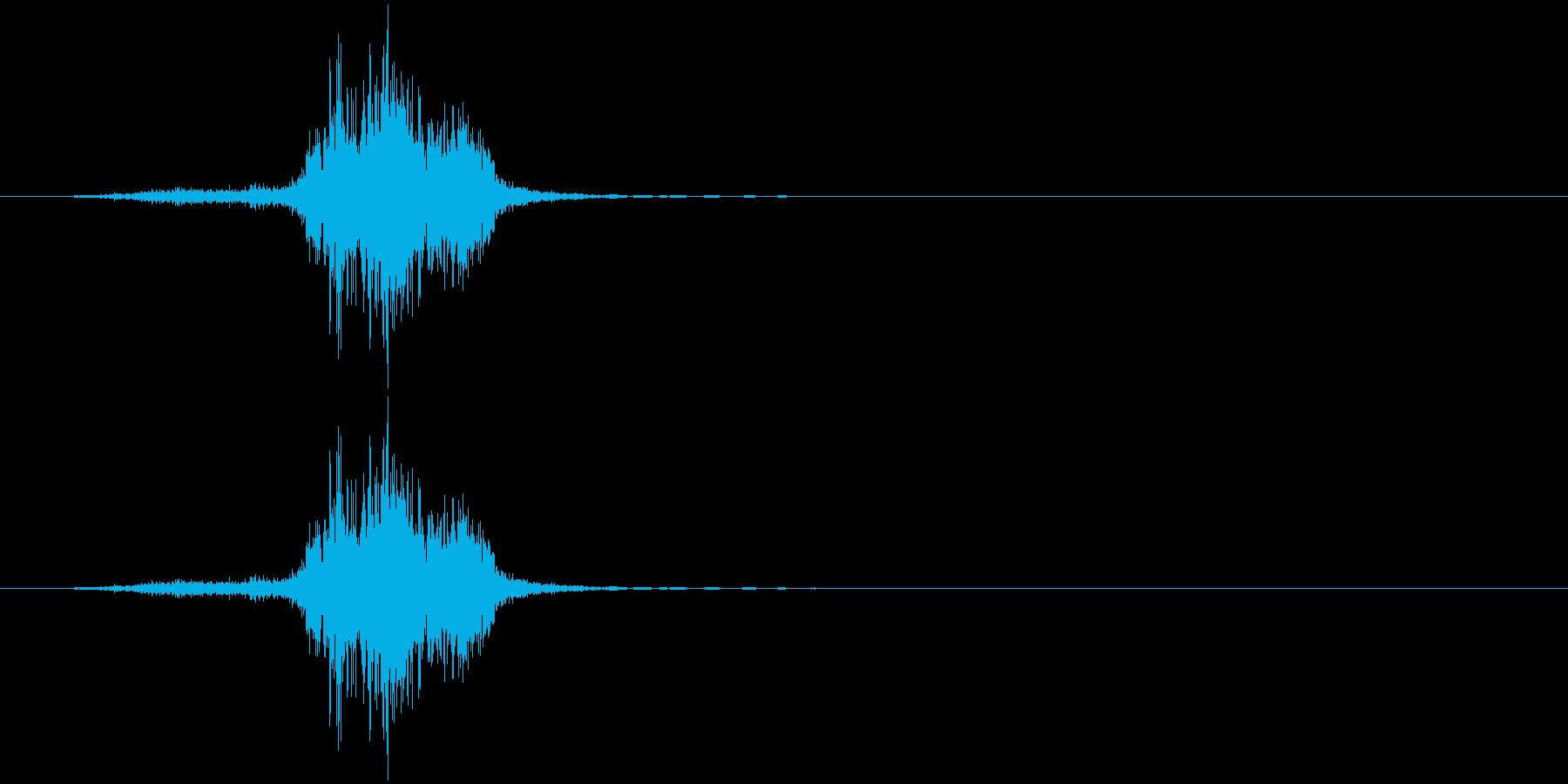 シュ(金属系)の再生済みの波形