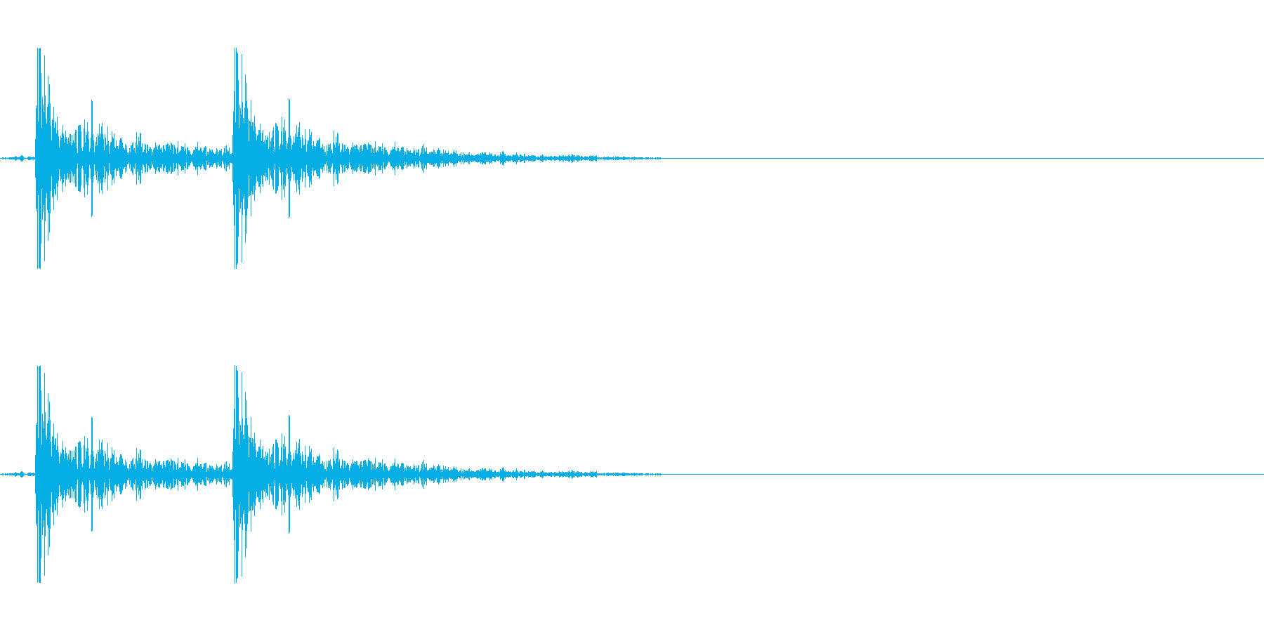 ドアを叩く音(若干強め)の再生済みの波形
