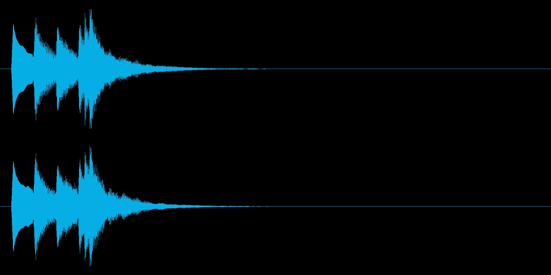 セーブ音(タララン↑、記録、ゲーム)の再生済みの波形
