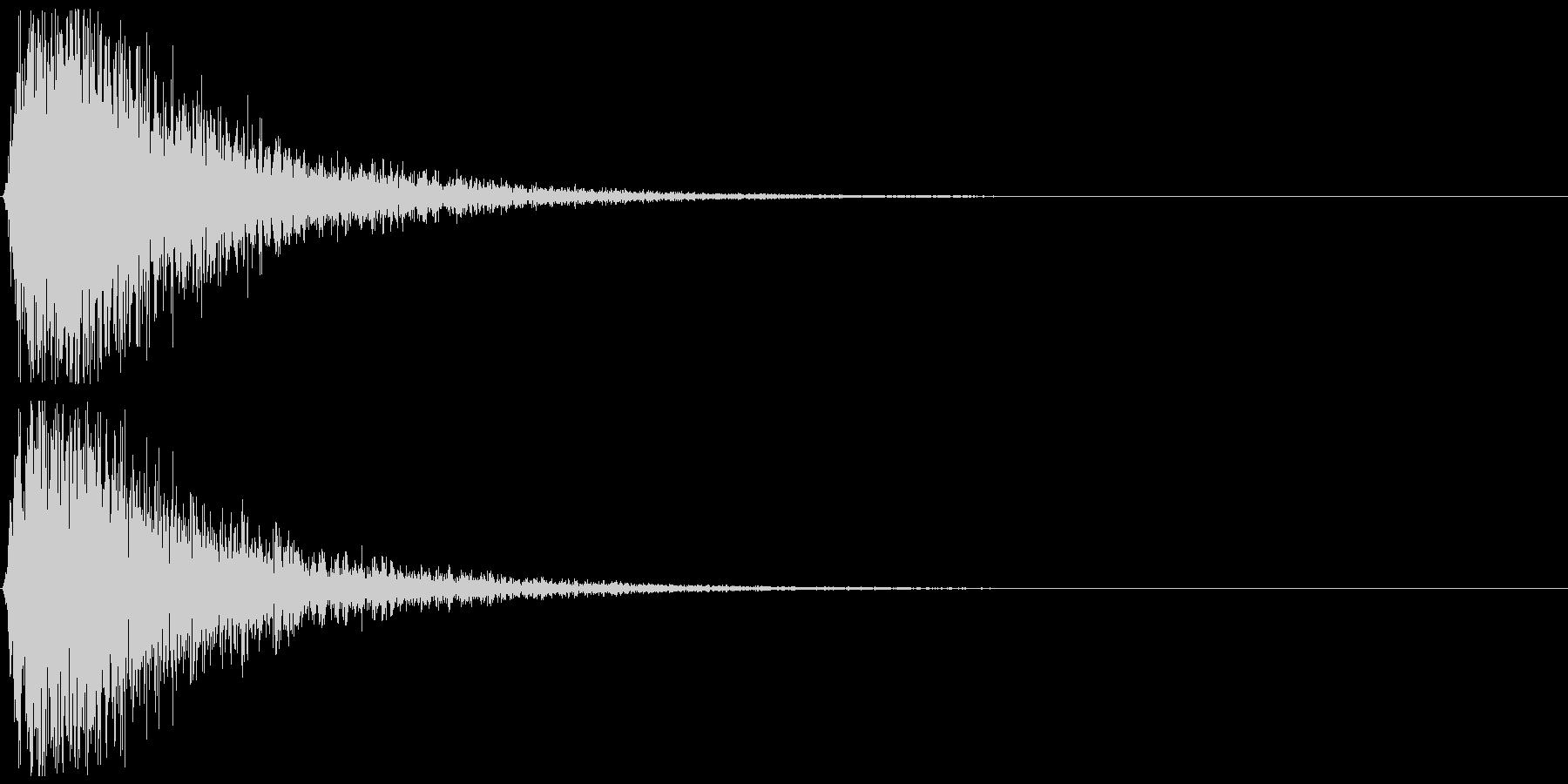 インパクトのあるバサッ:マントや動作音にの未再生の波形