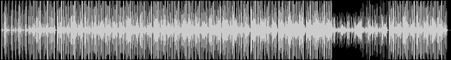 軽快かつ浮遊感のあるテクノサウンドの未再生の波形
