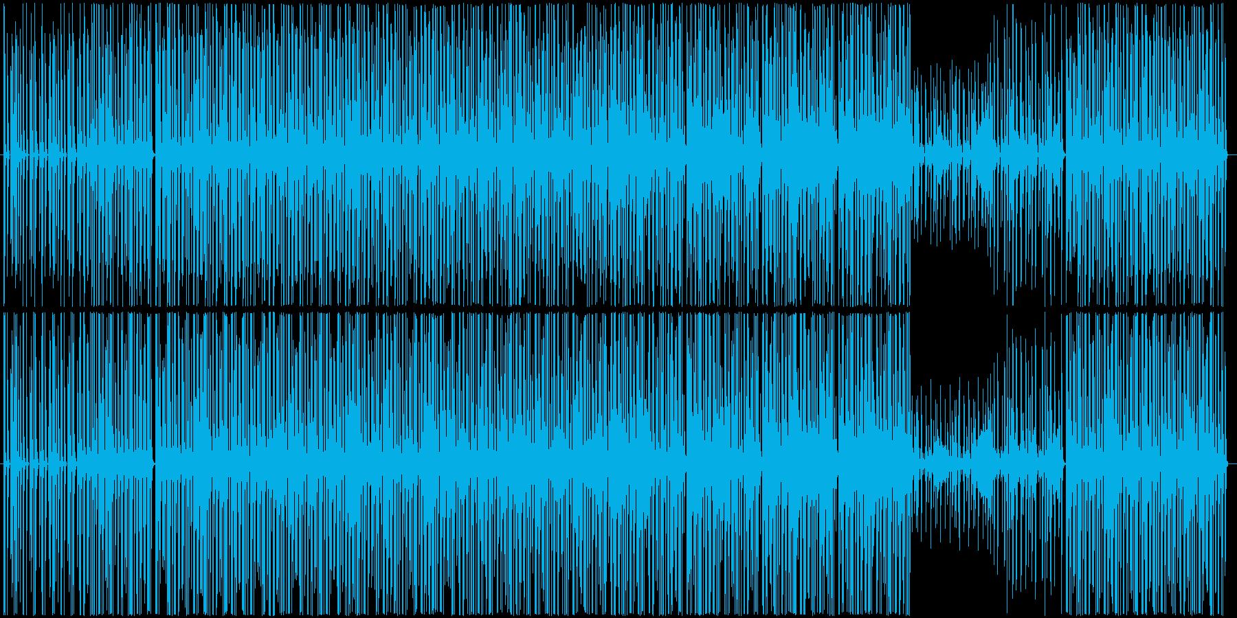 軽快かつ浮遊感のあるテクノサウンドの再生済みの波形
