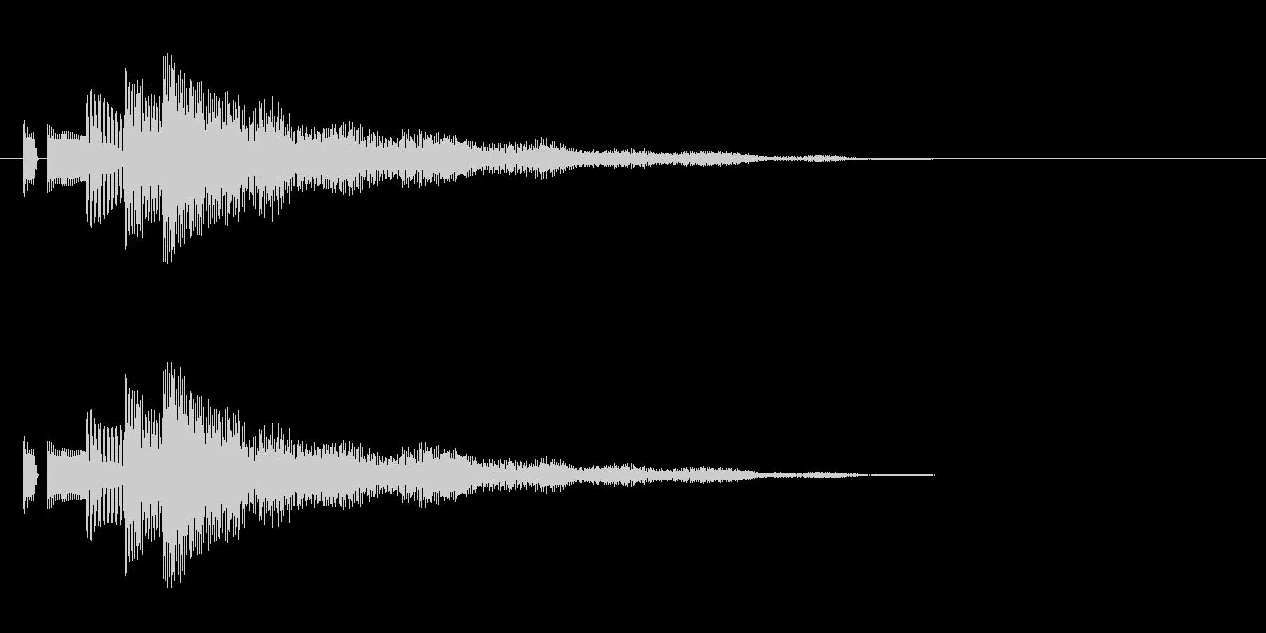 決定音。「タララン」の未再生の波形