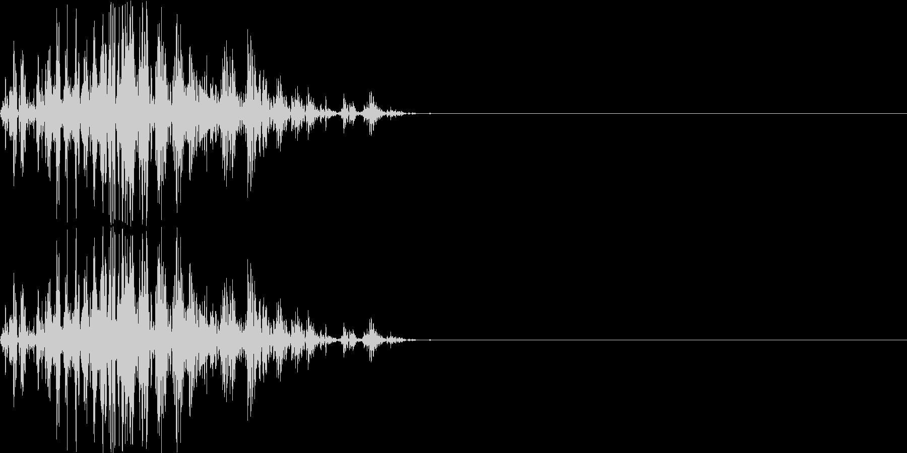 【ガスッ!】ファミコン系 破壊音_04の未再生の波形
