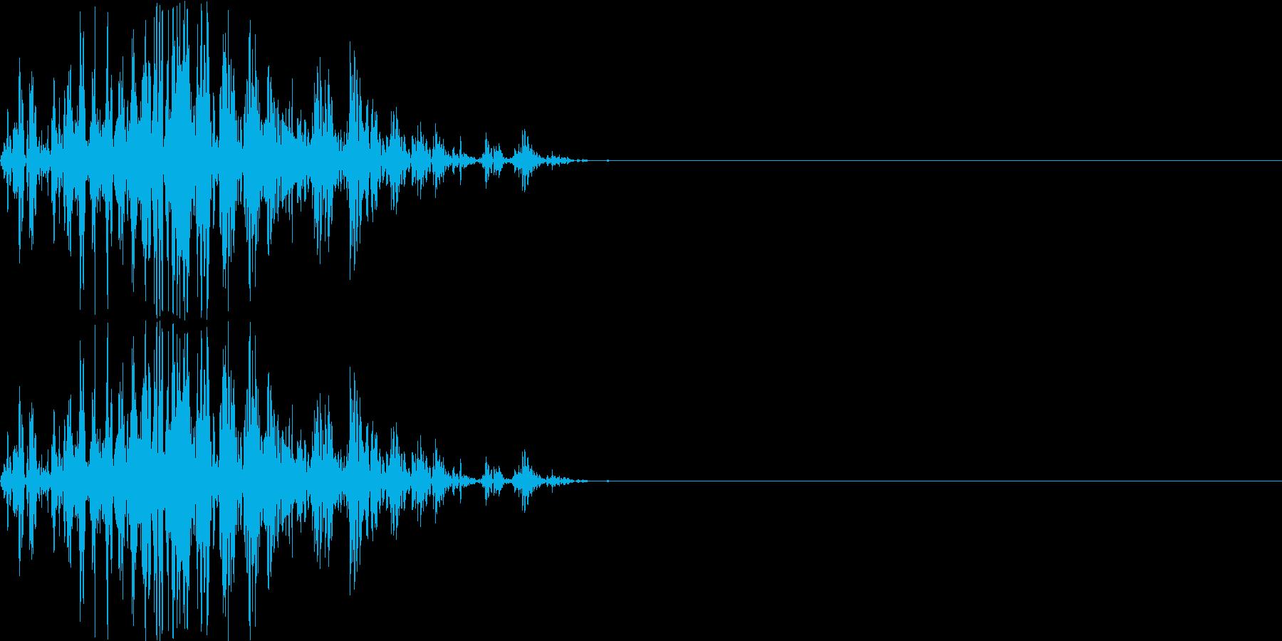 【ガスッ!】ファミコン系 破壊音_04の再生済みの波形