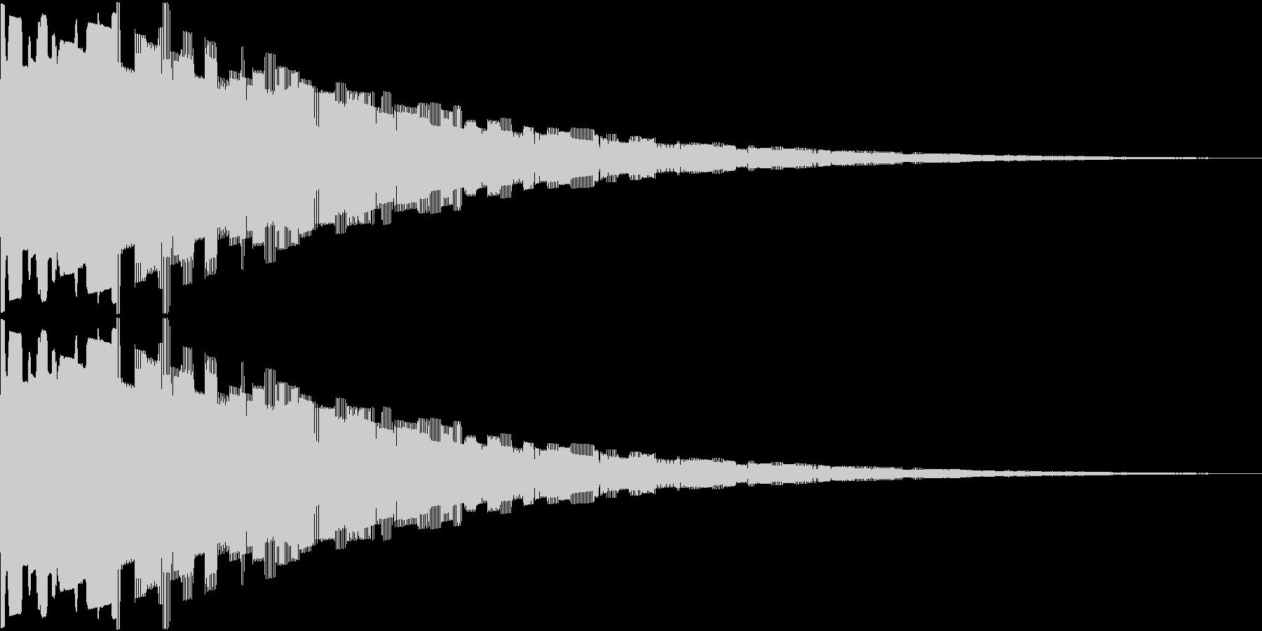 8ビット風ゲームのやられた時の未再生の波形